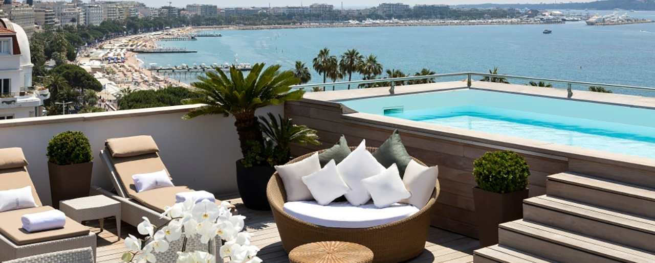 Hôtel Barrière Cannes - Le Majestic - Majestic Suite - Terrace - Swimming pool - Sea View
