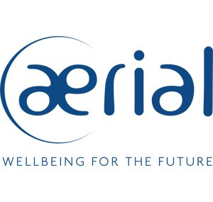 Logo Aerial, Wellbeing for the future