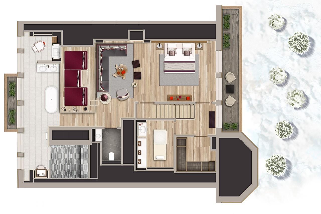 Suite les neiges chambres et suites les neiges for Chambre design normandie